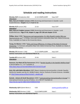 Schedule and reading instructions