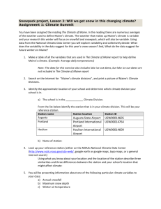 Snowpack project Lesson 3 Assignment 1: Climate Summit worksheet