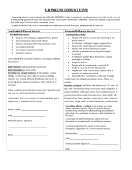 Influenza vaccination student medical exemption request form for Vaccination consent form template