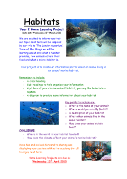 Habitats Year 2 Home Learning Project
