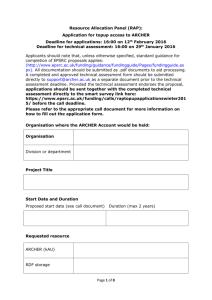 Grant/RAP Access TA Form
