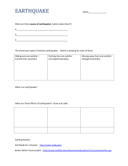 Earthquake Worksheet earthquake_study