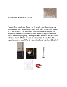 Heterogeneous Mixture Separation Lab