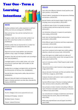Year 1Term4LearningIntentions