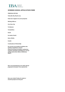 SAMPLE COURSE APPLICATION FORM * PAGE 1