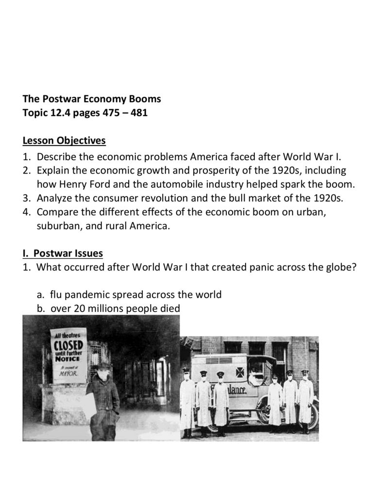 effects of the economic boom 1920