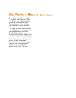 in class essay instructions she walks in beauty by lord byron