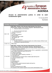 AGENDA Access to administrative justice in order to seek