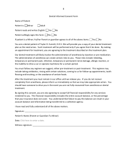 SBHC Dental Informed Consent Form