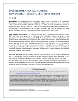Disaster Recovery Multifamily Rental Letter of Intent