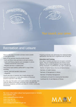 Recreation leisure career fact sheet (Word