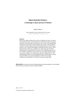 Open Systems Science