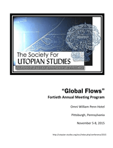 THURSDAY, NOV. 5 - The Society for Utopian Studies