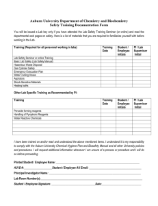 Safety Training Documentation Form