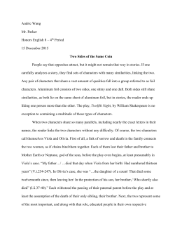 study questions twelfth night audric wang`s twelfth night essay honors