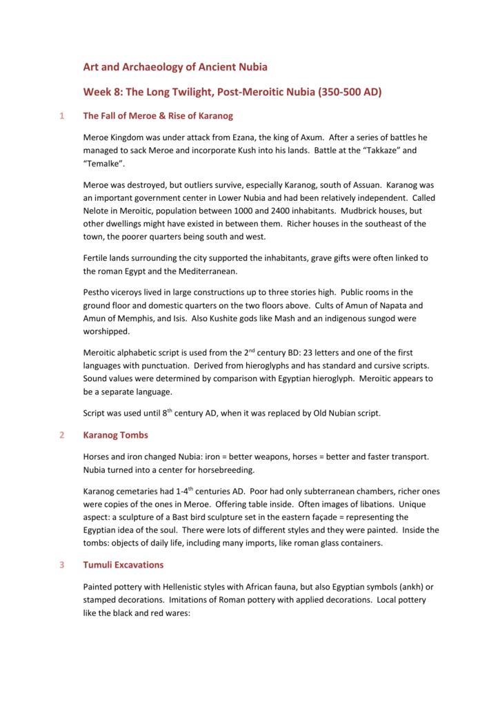 Unit 8 - course notes