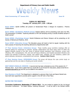 PCPH Weekly News - Issue 18 - 17 Jan 2011