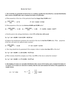 Worksheet on Normal Distribution Name:____Answer Key