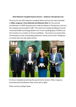 2015 Malcolm Campbell Award winners