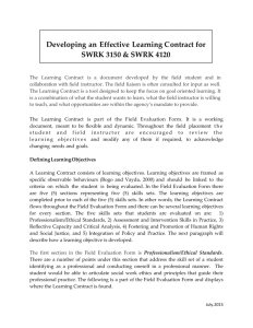 Developing an Effective Learning Contract for