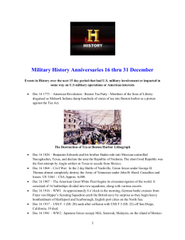 Military History Anniversaries 1216 thru 123115