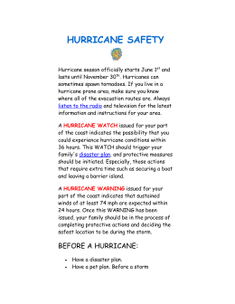 HURRICANE SAFETY notes