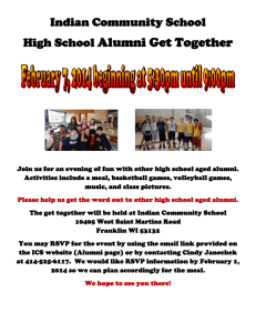 Indian Community School High School Alumni Get Together