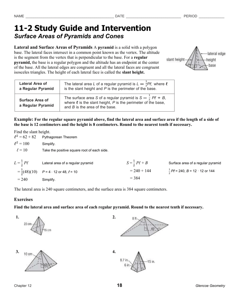 surface area and volume of pyramids worksheet the best and most comprehensive worksheets. Black Bedroom Furniture Sets. Home Design Ideas