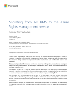 Migrating from AD RMS to the Azure Rights
