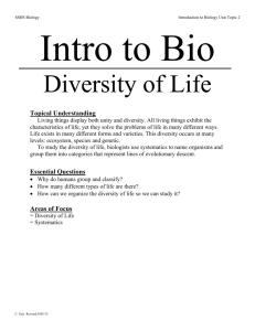 9th Grade Biology Syllabus: Mr