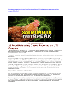25 Food Poisoning Cases Reported on UTC Campus