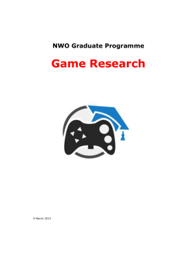 NWO Graduate Programme Game Research