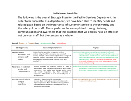 Facility Services Strategic Plan