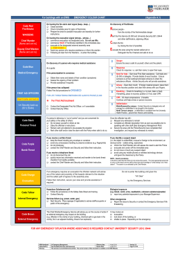 Emergency Colour Chart for Buildings with EWIS