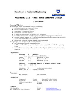 MECHENG 313 - Real Time Software Design