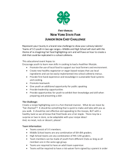 Jr. Iron Chef Challenge Details - New York State 4-H