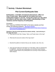 Plot Current Earthquake Data