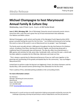 Michael Champagne to host Marymound Annual Family & Cultural
