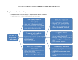 PARCC`s Cognitive Complexity Framework for Mathematics
