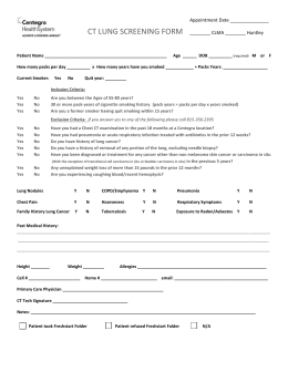 CT Lung Screening Form