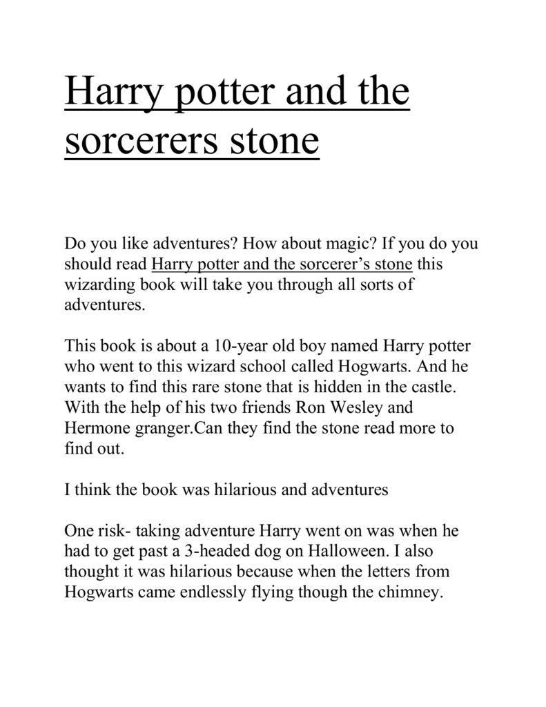 summary of harry potter and the philosophers stone in 200 words