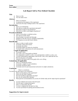 Lab Report Peer-edit Checklist (general)