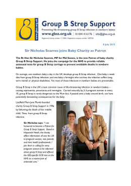 Sir Nicholas Soames joins Baby Charity as Patron