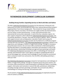 fatherhood development curriculum summary