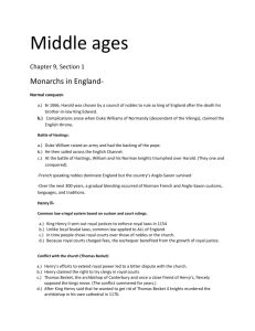 Middle ages - MsRodolicoHistory