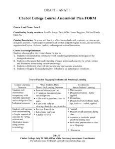 Chabot College Course Assessment Plan FORM