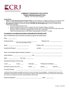 Tuition Reimbursement Form - Community Resources for Justice