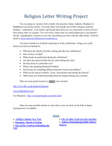 Religion Letter Project - Williamstown Independent Schools