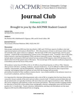 AOCPMR Journal Club Feb. Article Discussion Heterotopic