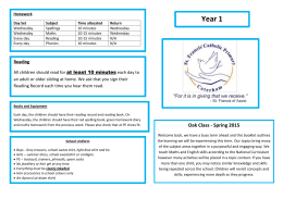 Year 1 Spring newsletter 2016 - St Francis` Catholic Primary School